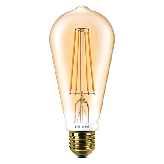 Picture of Classic LED 7-50W Dimmable ST64 Gold Bulb