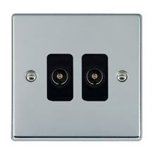 Picture of Hartland BC/BL 2 Gang Non Isolated Television 2 in/2 out Coaxial Socket