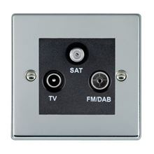 Picture of Hartland BC/BL TV + FM + Satellite DTV Screened Non Isolated Socket