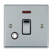 Picture of Hartland BC/BL 1 Gang 20A Double Pole + Neon + Cable Outlet Switch
