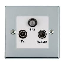 Picture of Hartland BC/WH TV + FM + Satellite DTV Screened Non Isolated Socket