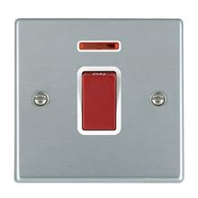 Picture of Hartland SC/WH 1 Gang 45A Double Pole Red + Neon Switch
