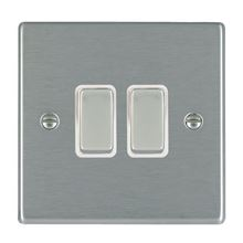 Picture of Hartland SS/WH 2 Gang 2 WAY 10AX Rocker Switch