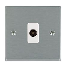 Picture of Hartland SS/WH 1 Gang Non Isolated Television 1 in/1 out Coaxial Socket