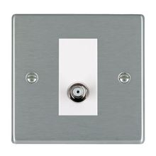 Picture of Hartland SS/WH 1 Gang Isolated Satellite Coaxial Socket