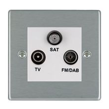 Picture of Hartland SS/WH TV + FM + Satellite DTV Screened Non Isolated Socket