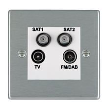 Picture of Hartland SS/WH TV + FM + Satellite + Satellite DTV Screened Non Isolated Socket