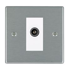 Picture of Hartland SS/WH 1 Gang TV DTV Screened Non Isolated Socket