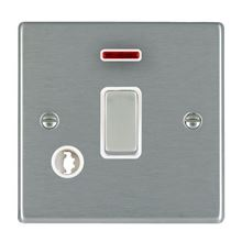 Picture of Hartland SS/WH 1 Gang 20A Double Pole + Neon Switch + Cable Outlet