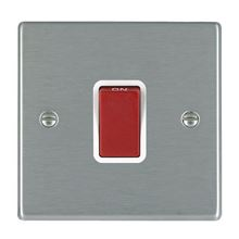 Picture of Hartland SS/WH 1 Gang 45A Double Pole Red Switch
