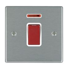Picture of Hartland SS/WH 1 Gang 45A Double Pole Red + Neon Switch
