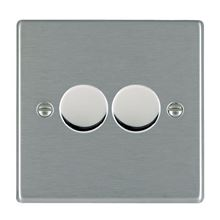 Picture of Hartland SS/BL 2 Gang 2 WAY 400W Resistive Dimmer