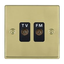 Picture of Hartland PB/BL 2G Isolated TV/FM 1 in/2 out Coaxial Socket