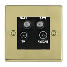 Picture of Hartland PB/BL TV + FM + Satellite + Satellite DTV Screened Non Isolated Socket