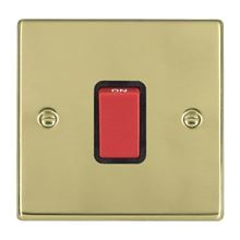 Picture of Hartland PB/BL 1G 45A Double Pole Red Switch
