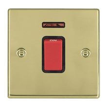 Picture of Hartland PB/BL 1G 45A Double Pole Red + Neon Switch