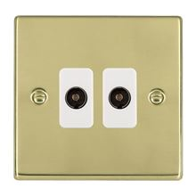 Picture of Hartland PB/WH 2G Non Isolated Television 2 in/2 out Coaxial Sockets