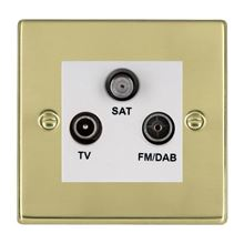 Picture of Hartland PB/WH TV + FM + Satellite DTV Screened Non Isolated Socket