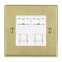 Picture of Hartland PB/WH 2G RJ45 Outlet Outlet