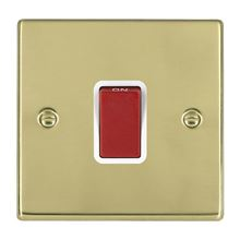 Picture of Hartland PB/WH 1G 45A Double Pole Red Double Pole Switches