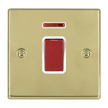 Picture of Hartland PB/WH 1G 45A Double Pole Red + Neon Switch