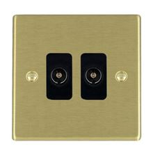 Picture of Hartland SB/BL 2 Gang Non Isolated Television 2 in/2 out Coaxial Socket