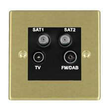 Picture of Hartland SB/BL TV + FM + Satellite + Satellite DTV Screened Non Isolated Socket