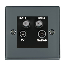 Picture of Hartland BN/BL TV + FM + Satellite DTV Screened Non Isolated Socket
