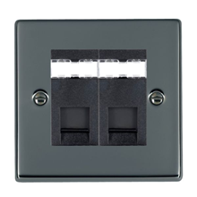 Picture of Hartland BN/BL 2 Gang RJ45 Outlet