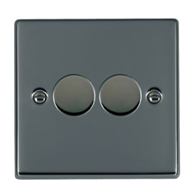 Picture of Hartland BN/BL 2 Gang 2 WAY 400W Resistive Dimmer