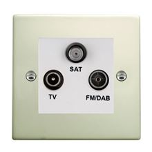Picture of Hartland PO/WH TV + FM + Satellite DTV Screened Non Isolated Socket