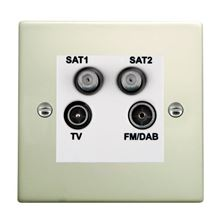 Picture of Hartland PO/WH TV + FM + Satellite + Satellite DTV Screened Non Isolated Socket