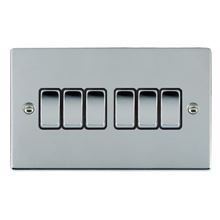 Picture of Sheer BC/BL 6 Gang 2 WAY 10AX Rocker Switch
