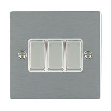 Picture of Sheer SS/WH 3 Gang 2 WAY 10AX Rocker Switch