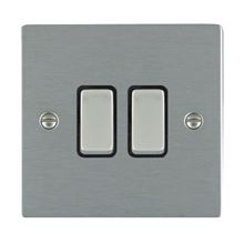 Picture of Sheer SS/BL 2 Gang 2 WAY 10AX Rocker Switch