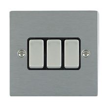Picture of Sheer SS/BL 3 Gang 2 WAY 10AX Rocker Switch