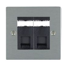 Picture of Sheer SS/BL 2 Gang RJ45 Data Outlet