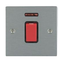 Picture of Sheer SS/BL 1 Gang 45A Double Pole Switch Red + Neon
