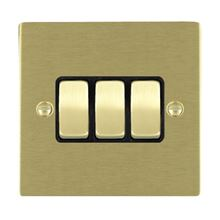 Picture of Sheer SB/BL 3 Gang 2 WAY 10AX Rocker Switch