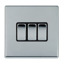 Picture of Hartland Screwless BC/BL 3 Gang 2 WAY 10AX Rocker Switch