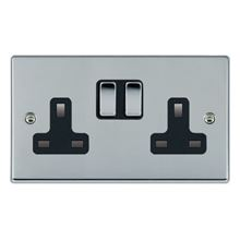 Picture of Hartland BC/BL 2 Gang 13A Switched Socket