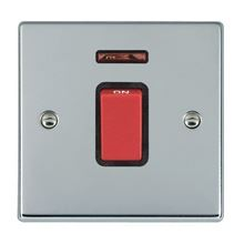 Picture of Hartland BC/BL 1 Gang 45A Double Pole Red + Neon Switch