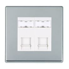 Picture of Hartland Screwless BC/WH 2 Gang RJ12 Outlet - Unshielded Outlet