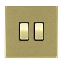 Picture of Hartland Screwless SB/BL 2 Gang Intermediate 20AX Rocker Switches