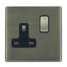 Picture of Hartland Screwless AB/BL 1 Gang 13A Double Pole Switched Socket