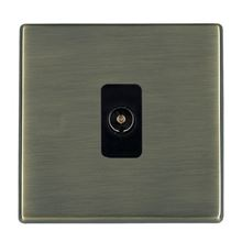 Picture of Hartland Screwless AB/BL 1 Gang Non Isolated Television 1 in/1 out Coaxial Socket