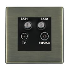 Picture of Hartland Screwless AB/BL TV + Satellite 1 + Satellite 2 + FM Socket SKY HD Ready
