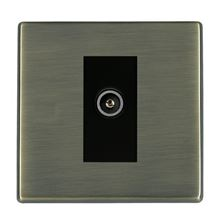 Picture of Hartland Screwless AB/BL 1 Gang TV (Female) DTV Screened Non Isolated Socket