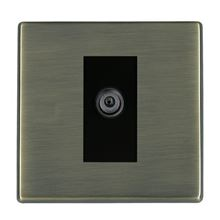 "Picture of Hartland Screwless AB/BL 1 Gang Satellite ""F"" Type DTV Screened Non Isolated Socket"