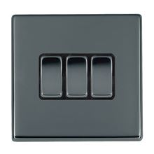 Picture of Hartland Screwless BN/BL 3 Gang 2 WAY 10AX Rocker Switch